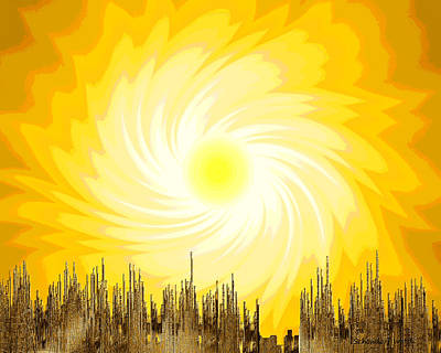 Painting - 657 -  Summer Sun ... by Irmgard Schoendorf Welch