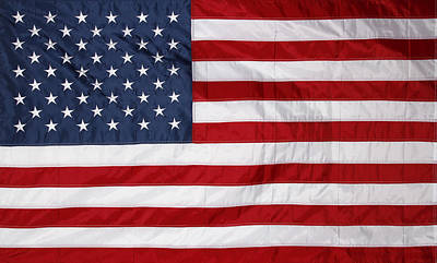 Celebrating Freedom Photograph - American Flag by Les Cunliffe