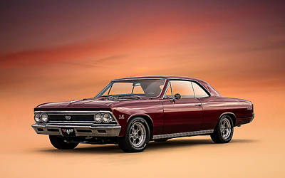 Chevy Ss Wall Art - Digital Art - '66 Chevelle by Douglas Pittman