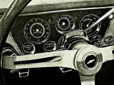 67-72 Chevy Truck Dash Art Print by Brandon Undeberg