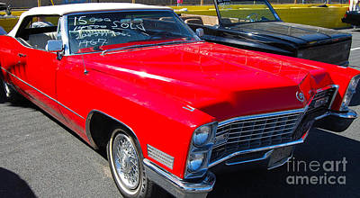 Photograph - '67 Caddy Convertible by Mark Spearman