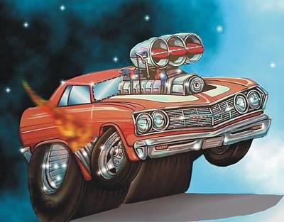 67 Chevelle Art Print by Christopher Fresquez