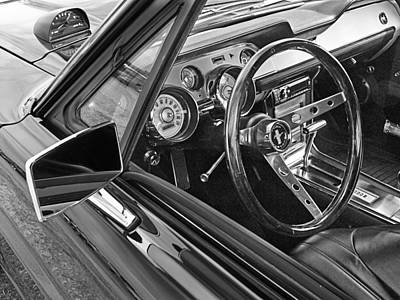 Cockpit Photograph - 67 Mustang Interior by Gill Billington