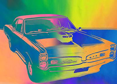 Show Mixed Media - 67 Pontiac Gto Pop Art by Dan Sproul