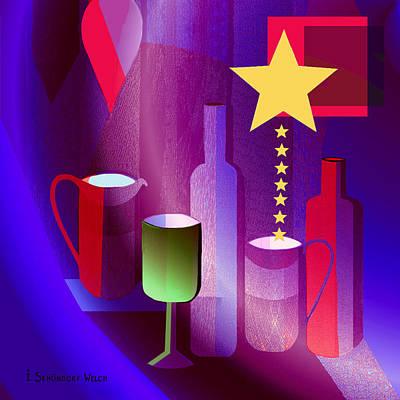 Digital Art - 670 - Star Spangled Still -  Life by Irmgard Schoendorf Welch