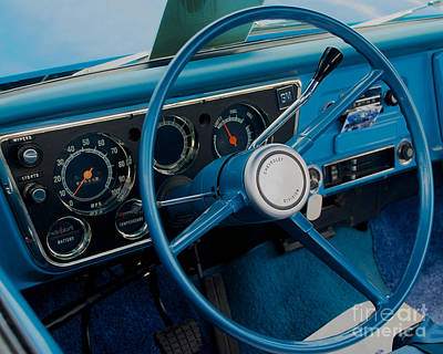 Photograph - 68 Chevy Truck Dash by Mark Dodd