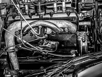 Ford Model A In Black And White Art Print by Steve Knievel