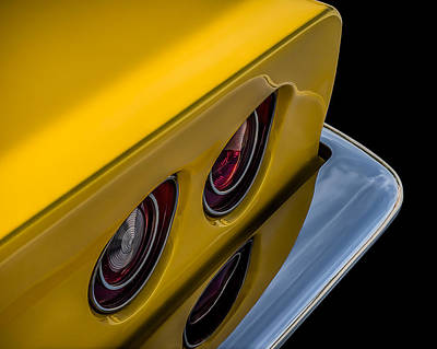 Sting Digital Art - '69 Corvette Tail Lights by Douglas Pittman