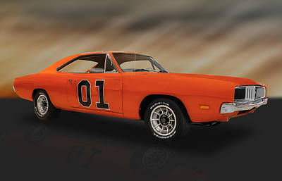 Photograph - 1969 Dodge Charger General Lee  -  69dodgecharger by Frank J Benz