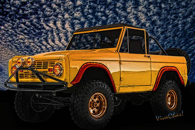 69 Ford Bronco 4x4 Restoration Art Print