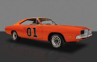 Photograph - 1969 General Lee Dodge Charger by Frank J Benz