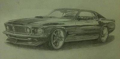 69 Mach 1  Art Print by Frankie Thorpe