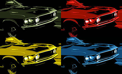 Photograph - '69 Mach 1 Mustang Pop by Gordon Dean II