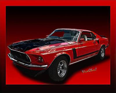 69 Mustang Mach 1 Art Print