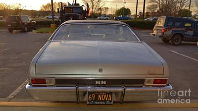 Photograph - 69 Nova 4 by Bob Sample