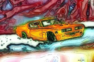 Photograph - 69 Pontiac G T O by Phillip Garcia
