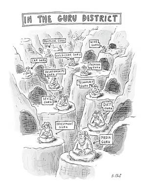 Etc Drawing - New Yorker March 10th, 2008 by Roz Chast