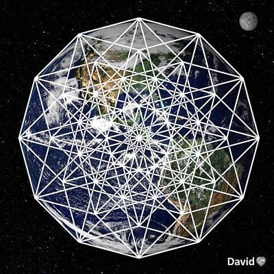 Digital Art - 6d Earth by David Diamondheart