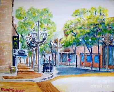 6th Ave Street Sunday  Original by Kenneth Michur