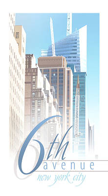 6th Avenue Art Print by Robert Conway