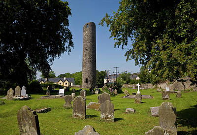 Monastic Photograph - 6th Century Round Tower, St by Panoramic Images