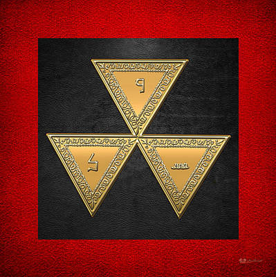 Digital Art - 6th Degree Mason - Intimate Secretary Masonic Jewel  by Serge Averbukh