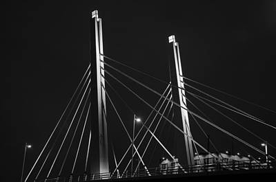 6th Street Bridge Black And White Art Print
