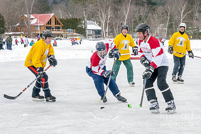Pond Hockey Photograph - 6th Vermont Pond Hockey by Jim Block