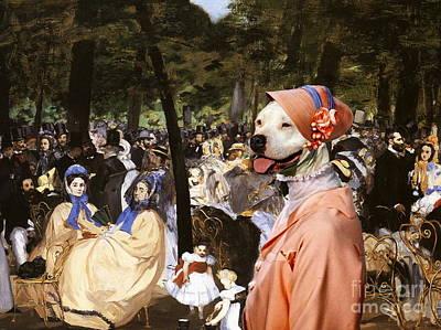 Staffordshire Painting -  American Staffordshire Terrier Art Canvas Print by Sandra Sij