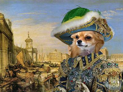 Chihuahua Painting -  Chihuahua Art Canvas Print by Sandra Sij