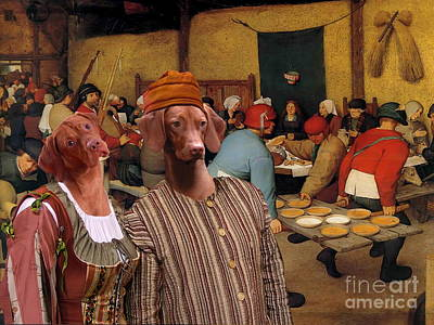 Painting -  Vizsla - Hungarian Vizsla Art Canvas Print by Sandra Sij