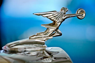 1934 Packard 8 1101 Sedan Hood Ornament Art Print by Jill Reger