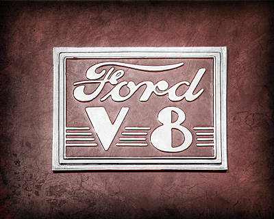 Ford V8 Photograph - 1940 Ford Deluxe Coupe Emblem by Jill Reger