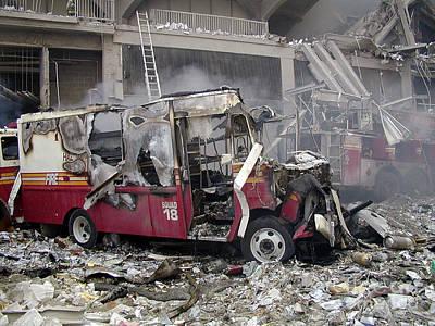 9 11 01 Photograph - 9-11-01 Wtc Terrorist Attack by Steven Spak