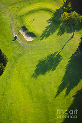 Photograph - Aerial Image Of A Golf Course. by Don Landwehrle