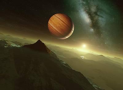 Alien Planetary System Art Print by Detlev Van Ravenswaay