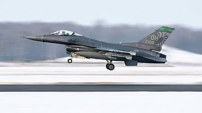 Photograph - An F-16 From The 180th Fighter Wing by Daniele Faccioli