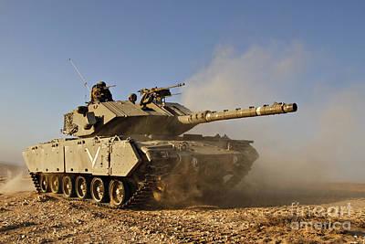 M60 Tank Photograph - An Israel Defense Force Magach 7 Main by Ofer Zidon