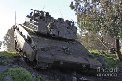 Down On The Ground Photograph - An Israel Defense Force Merkava Mark Iv by Ofer Zidon