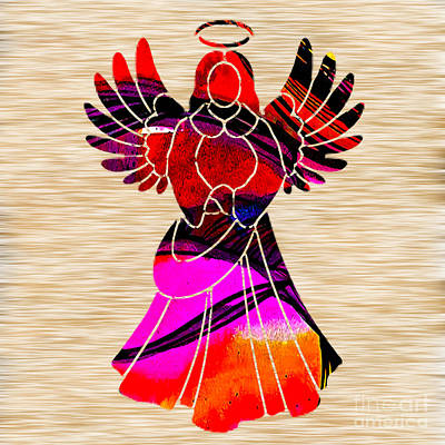 Angel Mixed Media - Angel by Marvin Blaine