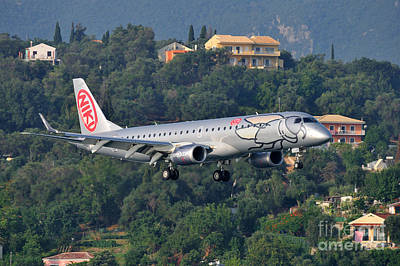 Approaching Photograph - Approaching Corfu Airport by George Atsametakis