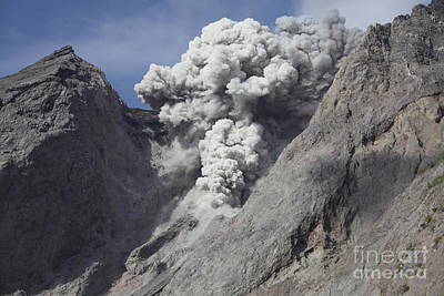 Photograph - Ash Cloud Rises From Crater Of Batu by Richard Roscoe