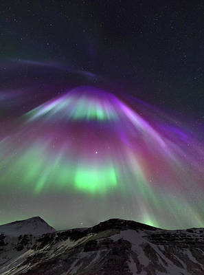 Solar Corona Photograph - Aurora Borealis by Babak Tafreshi