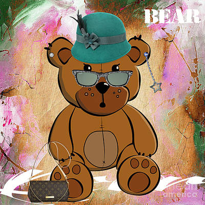 Mixed Media - Baby Bear Collection by Marvin Blaine