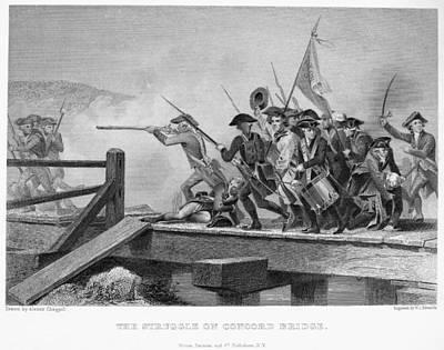 Battle Of Concord, 1775 Art Print by Granger