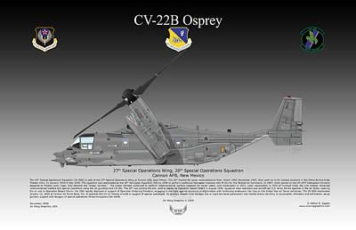 Bell Boeing Cv-22b Osprey Art Print