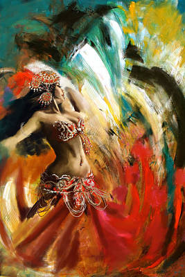 Dubai Painting - Abstract Belly Dancer 19 by Corporate Art Task Force