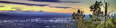 Bend From Pilot Butte In Evening Art Print by Twenty Two North Photography