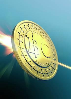 Virtual Photograph - Bitcoin by Victor Habbick Visions