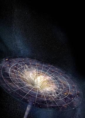 Black Hole Art Print by Henning Dalhoff
